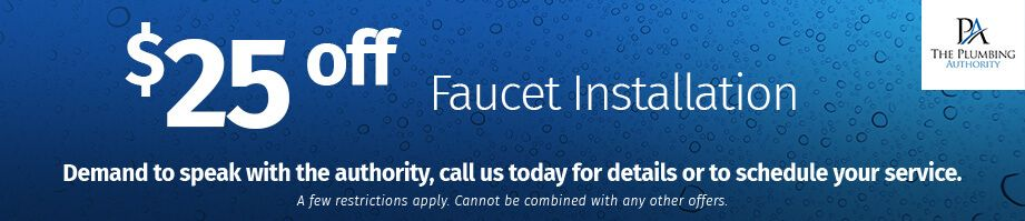 $25 off Faucet Installation coupon